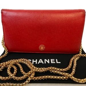 AUTHENTIC CHANEL CC CAVIAR LEATHER WALLET